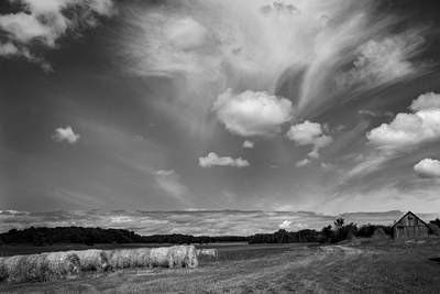 Hay Field And Barn Clarks Lake Road Art Print by Stephen Mack