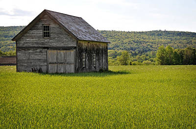 Photograph - Hay Field And Barn by Mike Martin