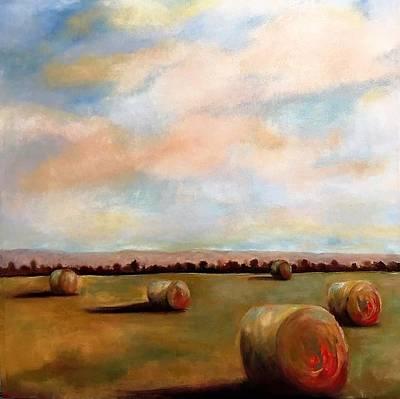 Painting - Hay Field by Debbie Frame Weibler