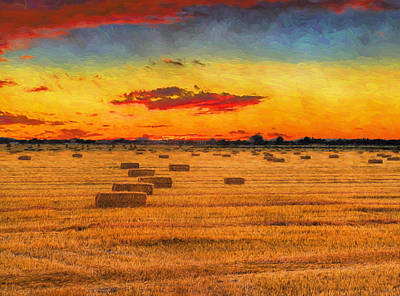Photograph - Hay Fields by Greg Norrell