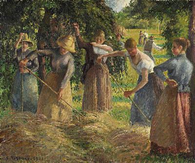 Hay Harvest At Eragny Art Print
