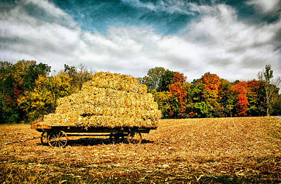 Photograph - Hay Harvest  by Carolyn Derstine