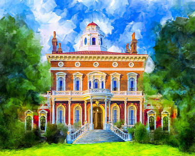 Classical Mixed Media - Hay House - Historic Macon Georgia by Mark Tisdale