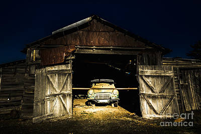 Photograph - Hay Hut Garaging A Vintage Car by Jorgo Photography - Wall Art Gallery