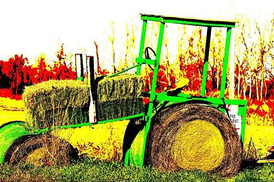 Photograph - Hay It's A Tractor by Karen Wagner