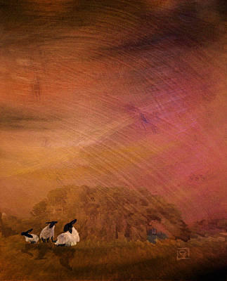 Art Print featuring the digital art Hay by Jean Moore