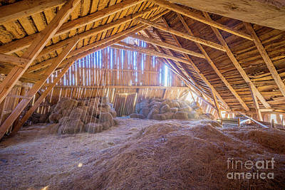 Bale Photograph - Hay Loft by Inge Johnsson