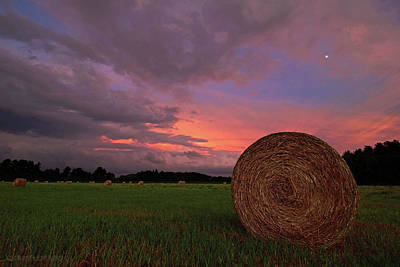 Bales Photograph - Hay Now by Jerry LoFaro