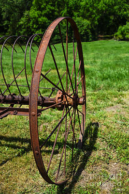 Photograph - Hay Rake Wheel by Jennifer White
