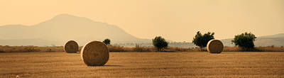 Rural Scenery Photograph - Hay Rolls  by Stelios Kleanthous