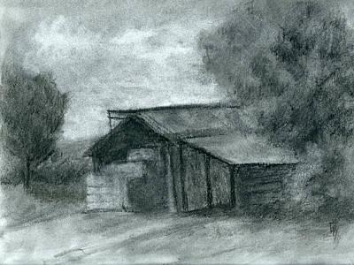 Hay Shed Sketch Original