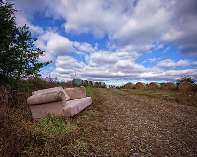 Photograph - Hay Sofa Sky by Alan Raasch