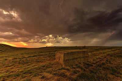 Hay Storm Art Print by Mark Kiver