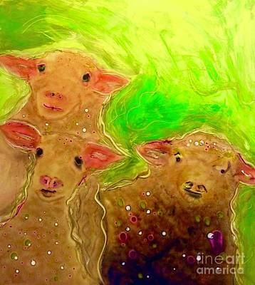 Painting - Hay What Dew Ewe Know by FeatherStone Studio Julie A Miller