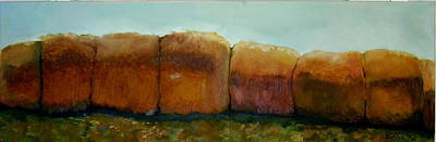 Haybales Original by Judy  Blundell