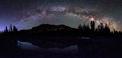 Photograph - Hayden Peak Milky Way Panorama by Johnny Adolphson