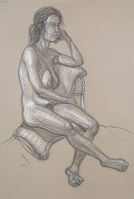 Drawing - Haydyn Seated by Donelli  DiMaria