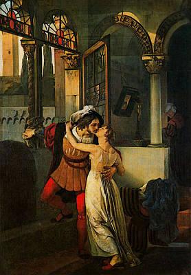 Romeo And Juliet Digital Art - Hayez Francesco The Last Kiss Of Romeo And Juliet by Francesco Hayez
