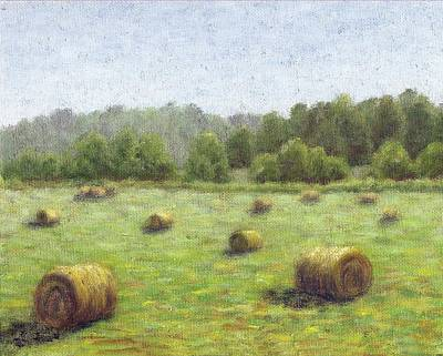 Painting - Hayfield by Jean Ehler