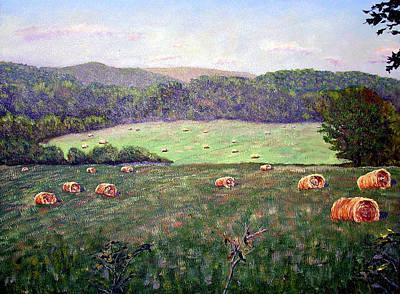 Hayfield  Art Print by Stan Hamilton