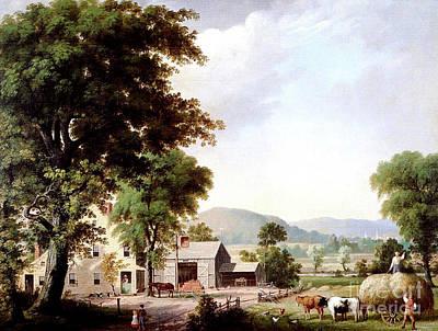 Haying At Jones Inn, 1854 Art Print