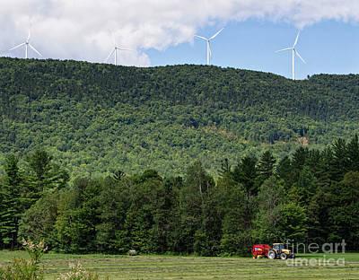Photograph - Haying, Roxbury, Maine #10291 by John Bald