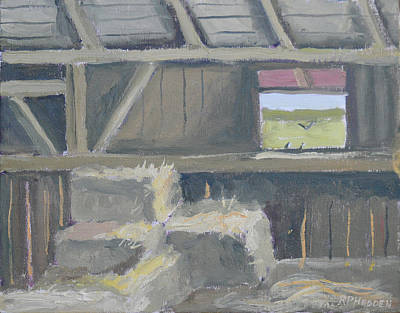 Hayloft With Barn Swallows Original by Robert P Hedden