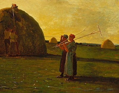 Winslow Homer Painting - Haymakers by Winslow Homer