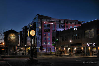Photograph - Haymarket Clock by Mark Dahmke