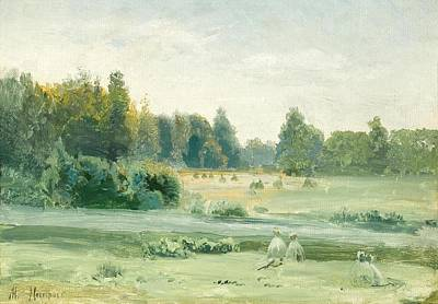 Hayrick Painting - Hayricks By The River by MotionAge Designs