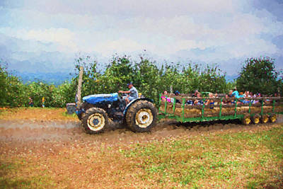 Hayride Photograph - Hayride At The Apple Orchard by Amy Jackson