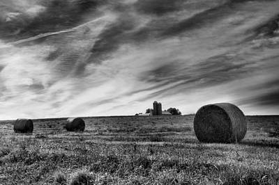 Hayrolls And Field Art Print