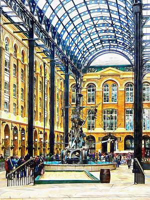 Photograph - Hay's Galleria London by Dorothy Berry-Lound
