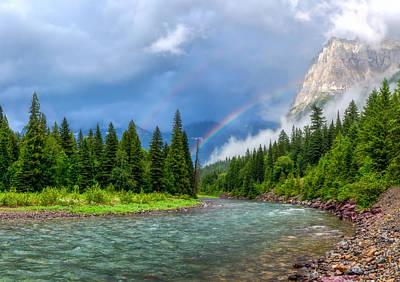 Apgar Photograph - Haystack Creek- Glacier National Park by Matt Hammerstein
