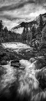 Haystack Creek Vertical Panorama Art Print
