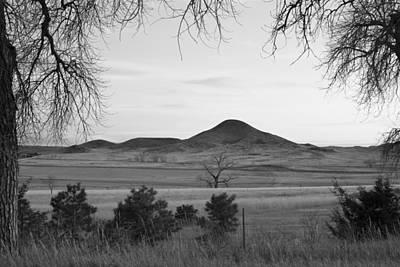 Photograph - Haystack Mountain - Boulder County Colorado - Black And White Ev by James BO Insogna