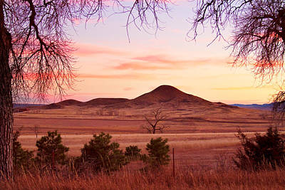 Haystack Mountain - Boulder County Colorado -  Sunset Evening Print by James BO  Insogna