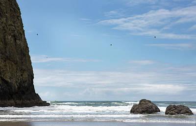 Photograph - Haystack Rock #2 by Rebecca Cozart