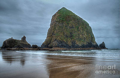 Hdr Photograph - Haystack Rock 3 by Hilton Barlow