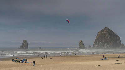 Photograph - Haystack Rock Afternoon Oregon by Lawrence S Richardson Jr