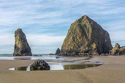 Beach Photograph - Haystack Rock Beach Pool by Marv Vandehey