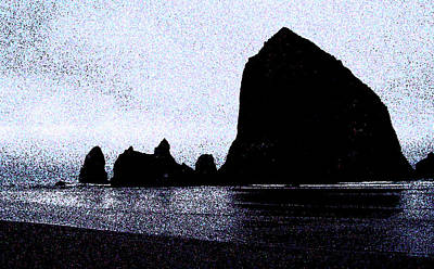 Photograph - Haystack Rock by Macaque