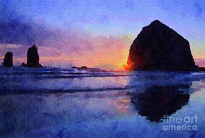 Photograph - Haystack Rock by Chris Scroggins