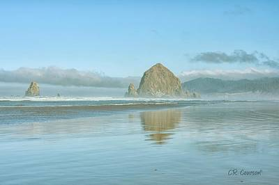 Photograph - Haystack Rock by CR Courson