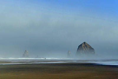 Photograph - Haystack Rock Dawn 8 by Jeff Brunton