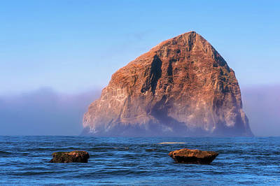 Photograph - Haystack Rock  by Dee Browning