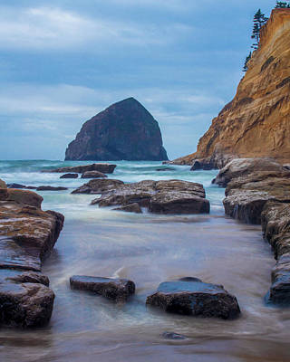 Photograph - Haystack Rock In Color by Jedediah Hohf