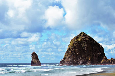 Photograph - Haystack Rock In The Sunlight by Kathy Kelly