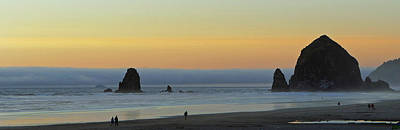 Photograph - Haystack Rock Panorama by Jeff Brunton