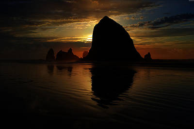Photograph - Haystack Rock by Scott Hill